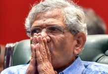 CPI(M) General Secretary Sitaram Yechury during a seminar titled 'Public Hearing on Rafale Scam' in New Delhi | PTI Photo/Kamal Singh)