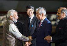 Prime Minister, Narendra Modi with the dignitaries in Japan