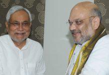 Bihar chief minister Nitish Kumar and BJP president Amit Shah   AP Dube/Hindustan Times via Getty Images)