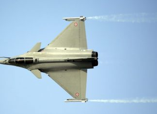 A Rafale fighter jet, manufactured by Dassault Aviation | Jason Alden/Bloomberg