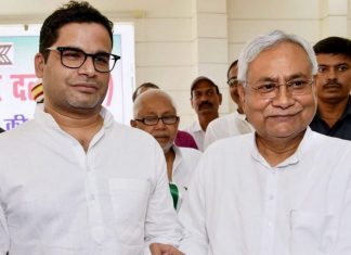File image of Bihar CM Nitish Kumar with Prashant Kishor | PTI