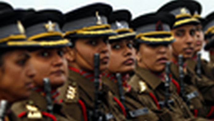 Women officer contingent of the Indian Army | Getty Images