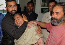 Wailing relatives of a victim of the grenade attack in the Nirankari Bhawan | PTI