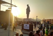 Tourists at the site of Statue of Unity | By Special Arrangement