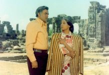 Suchitra Sen and Sanjeev Kumar in a still from Aandhi | YouTube