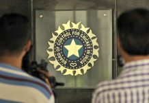 A view of logo of the Board of Control for Cricket in India (BCCI) | Aniruddha Chowhdury/Mint via Getty Images