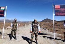 Indian Army personnel keep vigilance at Bumla pass in Arunachal Pradesh | BIJU BORO/AFP/Getty Images