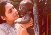 Madhumala Chattopadhyay with a three-month-old Jarawa baby | Madhumala Chattopadhyay/ThePrint