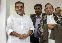 Union minister and Rashtriya Lok Samta Party chief Upendra Kushwaha meets with expelled JD(U) leader Sharad Yadav in New Delhi | PTI