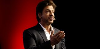 Shah Rukh Khan at a summit in New Delhi | Anindito Mukherjee/Bloomberg