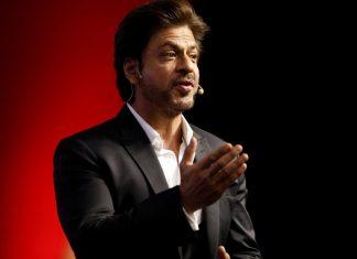 Shah Rukh Khan at a summit in New Delhi | Anindito Mukherjee/Bloomberg