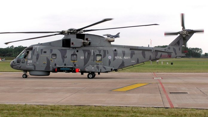 An AugustaWestland AW101 helicopter | Common