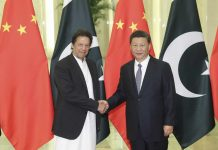 Chinese President Xi Jinping with Pakistan's Prime Minister Imran Khan | Sheng Jiapeng/China News Service/VCG via Getty Images
