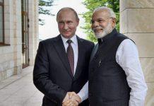 PM Narendra Modi with Russian President Vladimir Putin