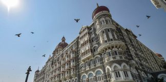 A view of the Taj Mahal Palace hotel which was a target during the 26/11 terror attack in 2008