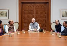 PM Modi with eminent members of his cabinet