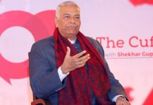 Yashwant Sinha at Off The Cuff in New Delhi | THePrint