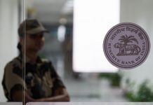 Reserve Bank of India (RBI) logo in the RBI building in Mumbai | Karen Dias/Bloomberg