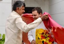 N. Chandrababu Naidu with Rahul Gandhi | Facebook