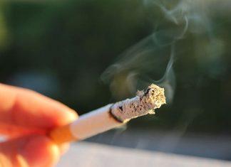 A tobacco cigarette