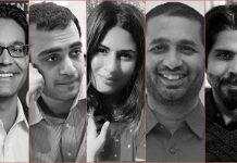 Milan Vaihnav, Madhav Khosla, Gurmehar Kaur, Nitin Pai and Pankaj Mishra | Arindam Mukherjee/ThePrint