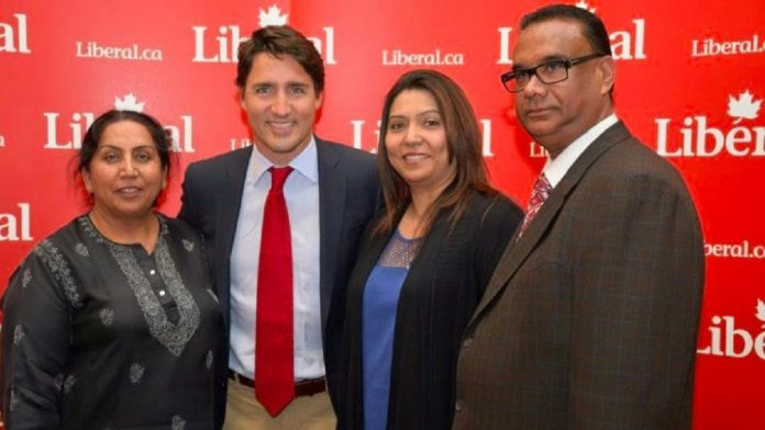 Canadian Prime Minister Justin Trudeau with Jaspal Atwal