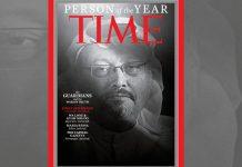 Time magazine cover featuring Jamal Khashoggi