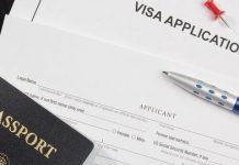 Representational image of visa application form