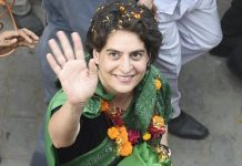 In this May 4, 2014 file photo Priyanka Vadra is seen during a road show in Amethi