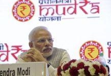 File photo of Narendra Modi at the launch of MUDRA Bank in New Delhi | Kuni Takahashi/Bloomberg