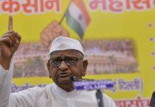 Activist Anna Hazare at the press conference in New Delhi | Praveen Jain/ThePrint