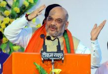 BJP president Amit Shah at a public rally | PTI