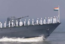 File photo of Indian Navy on board a naval ship