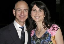 Jeff Bezos with wife MacKenzie