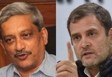 Manohar Parrikar and Rahul Gandhi | PTI