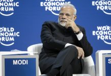 Prime Minister Narendra Modi at the World Economic Forum in Davos, 2018 | Jason Alden/Bloomberg
