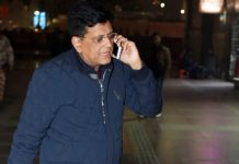 Union railway minister Piyush Goyal arrives for a screening of 'The Accidental Prime Minister' in New Delhi | PTI
