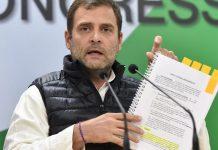 Congress president Rahul Gandhi at AICC headquarters in New Delhi | PTI