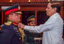 Major General Shavendra Silva with Sri Lankan President Maithripala Sirisena | @MaithripalaS/Twitter
