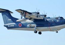 A ShinMaywa US-2i amphibious aircraft