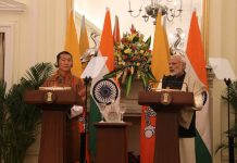 Bhutan PM Lotay Tshering with PM Narendra Modi