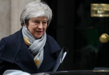 UK PM Theresa May outside 10 Downing Street