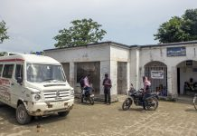 An ambulance outside a Primary Health Care Center in Raghopur, Bihar (representational image) | Prashanth Vishwanathan/Bloomberg