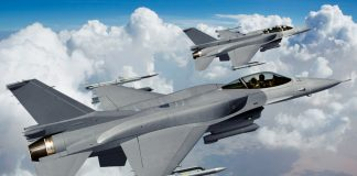 The F-16 manufactured by Lockheed Martin