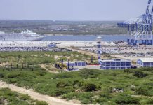 View of Sri Lanka's Hambantota Port, operated by China Merchants Group