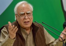 Senior Congress leader Kapil Sibal addresses a press conference at AICC headquarters Manvender Vashist/PTI