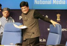 Finance minister Piyush Goyal after presenting the budget in Parliament | Praveen Jain/ThePrint