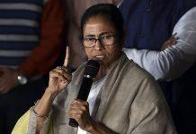 Mamata Banerjee addresses media after coming out of Kolkata Police Commissioner Rajeev Kumar's residence, in Kolkata | Swapan Mahapatra/PTI