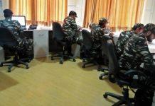 CRPF officials at the helpline centre | Moushumi Das Gupta/Twitter