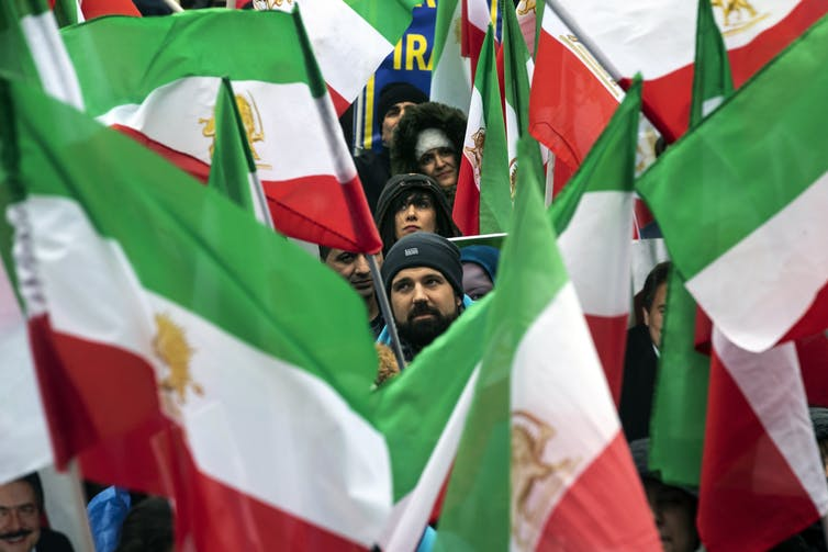 Iranians all over the world, such as these in France, are calling for a change of government